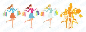 Fashion Shopping female illustrator