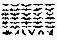 Vector Set van Halloween Bat silhouet