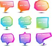 Bright Speech Bubbles