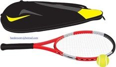 Tennis sport vecteur 10