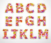 Beautiful flowers and letters 02