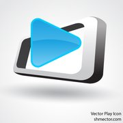 Vector Blue play icon