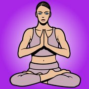 Women Cartoon Yoga Pose