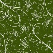 Floral Pattern Background Vector Graphic Art