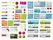 A variety of web design elements