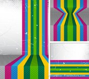Abstract Colored Striped Background