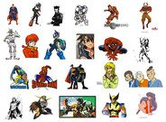 Cartoon characters and animation character
