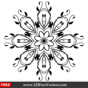 Vector Ornate Decorative Element Clip Art Image