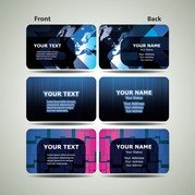 Blue Technology Business Card Template 03