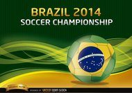 Brazil 2014 Soccer Championship Background