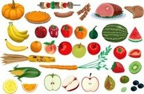 Stock Ilustrations vegetables & Fruit
