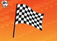 Waving Racing Flag