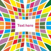 Colored Tiles Abstract Stretched Background