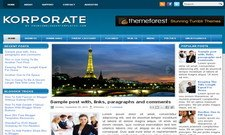 Korporate Blogger Free Theme