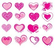pink heartshaped icon