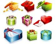 Stock Ilustrations Gift Box Vector Set