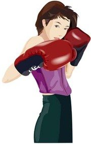 Boxing sport vector 2