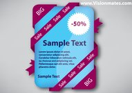 Sale Sticker Vector With Ribbon