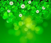 Saint Patrick Day background with clover