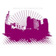 HALFTONE ABSTRACT CITY VECTOR.eps