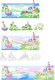 Summer Style Handdrawn Style Vector Series 1