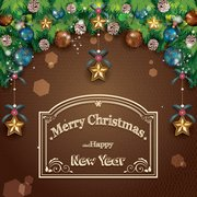 Merry Christmas poster kaart vector material01