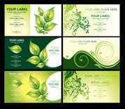 Environmental Theme Card Template Vector 3