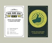 Business card vintage style
