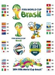 Impostare 2014 Brasile World Cup Vector