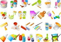 Vector Paint Tools And Paint The Walls