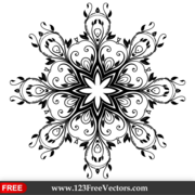 Vector Floral Ornate Decorative Element