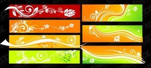 Beautiful color patterns banner