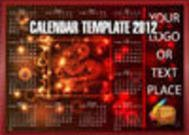 Dragon Calendar Template of 2012