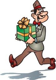 Man with his gift
