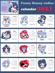 Calendar 2011 Year Of The Rabbit Lovely
