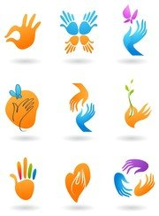 deformed hand icon
