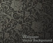 Wallpaper Seamless Pattern nero