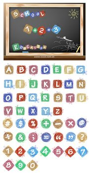 Cartoon effect of letters and numbers