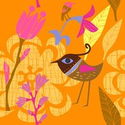 Lovely Hand-painted Flowers And Birds Vector -3 Cute Cartoon
