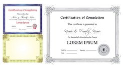 European Certificate Template Vector European