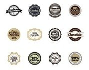 Chocolade Vector Badges