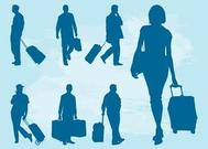 Traveling People Silhouettes