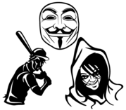 Free Vector Mask, Baseball Player and Scary Face Illustration