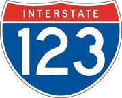 Interstate 123 Sign Board