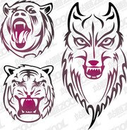 Vector material totem animal picture