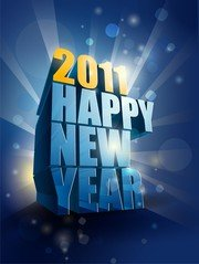 Happy New Year 2011 3D