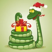 Cute cartoon snake 04