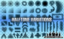 58 Vector Halftones Elements