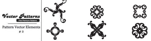 12 Decorative Free Vector Pattern Elements Edition 2