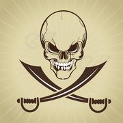 Pirate skull with swords